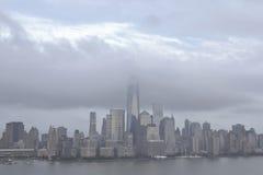 Obłoczna pokrywa NYC Zdjęcie Royalty Free