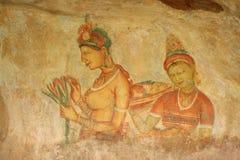 Obłoczne dziewczyny Sigiriya Zdjęcie Royalty Free