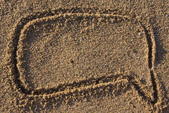 obłoczny komiczny piaska znaka tekst Zdjęcie Stock