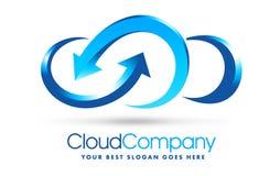 Obłoczny logo Obrazy Stock