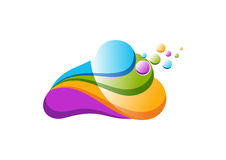 Obłoczny logo Obrazy Royalty Free