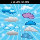 Obłoczny niebieskie niebo wektor Zdjęcia Royalty Free