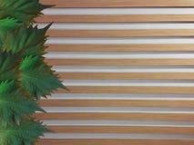 Oba liście na drewnianym ogrodzeniu Obrazy Royalty Free