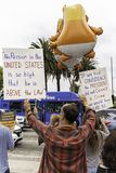 Obala prezydenta atut Protestacyjny Zachodni Los Angeles fotografia royalty free