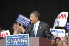Obama�s rally at the Nissan Pavilion rally Royalty Free Stock Image