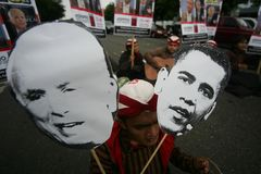 Obama και προεδρικές εκλογές του Μακέιν Στοκ Εικόνες
