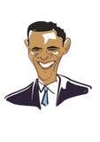 Obama 1 ilustración del vector