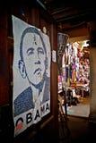 Obama affisch i Kenya Royaltyfri Bild