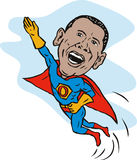 Obama als superhero Stock Foto