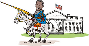 Obama as Knight White House Stock Images