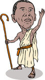 Obama as the Messiah. Illustration showing Obama as the savior Stock Photography