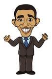 Obama Barack President. Cartoon illustration of Obama Barack President vector illustration