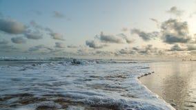 Obama Beach in Cotonou, Benin. Waves of the Atlantic Ocean landing on the shores of Obama Beach in Cotonou, Benin royalty free stock image