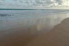 Obama Beach in Cotonou, Benin. Waves of the Atlantic Ocean landing on the shores of Obama Beach in Cotonou, Benin stock photo