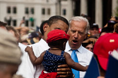 Obama Biden. Barack Obama and Joe Biden in Springfield Illinois Royalty Free Stock Photo