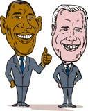 Obama and Biden. Caricature illustration of  Barack Obama and Joe Biden Stock Image