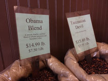 Obama Blend Coffee Stock Photography