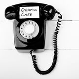 Obama care. Telephone help line concept, not everyone has access to the internet so some people have to sign up the old fashioned way Royalty Free Stock Photography