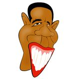 Obama caricature. Barak Obama digital caricature illustration Stock Photos