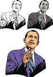 Obama caricature Royalty Free Stock Photography