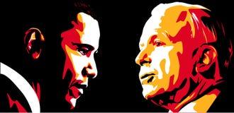 Obama contro McCain Fotografia Stock Libera da Diritti