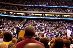 Obama déclare la victoire à St Paul, manganèse Photo libre de droits