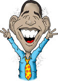 Obama daje pokojów znakom Obraz Stock