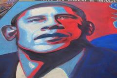 Obama dans la craie Photos libres de droits