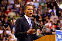 Obama déclare la victoire à St Paul, manganèse Image libre de droits