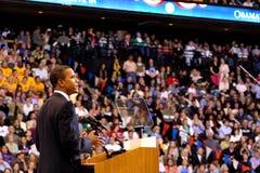 Obama dichiara la vittoria a St Paul, manganese Fotografia Stock