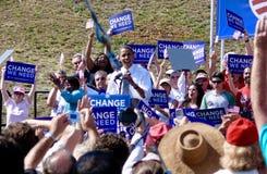 Obama en Asheville Imagen de archivo libre de regalías