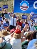 Obama en Asheville Foto de archivo