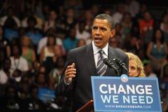 Obama en campaña Fotografía de archivo libre de regalías