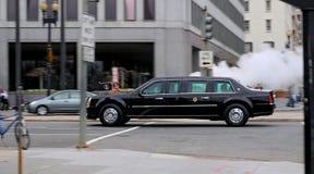 Obama en el movimiento II. Imagen de archivo