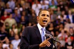 Obama erklärt Sieg in St Paul, Mangan Lizenzfreies Stockbild