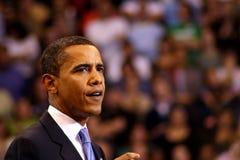 Obama erklärt Sieg in St Paul, Mangan Lizenzfreie Stockfotografie