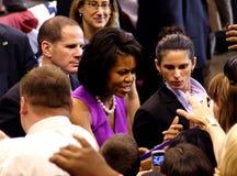 Obama förklarar seger i St Paul, MN Fotografering för Bildbyråer