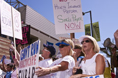 Obama Healthcare Demonstration Supporters Stock Photo
