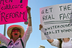 Obama Healthcare Demonstration Supporters Royalty Free Stock Photography