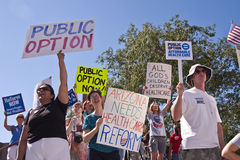 Obama Healthcare Reform Demonstration Suporters Stock Photo