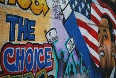 Obama i kontekst polityczny graffiti fotografia royalty free