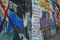 Obama i kontekst polityczny graffiti obraz stock