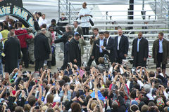 Obama in Indianapolis 162 Stock Image