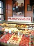 Obama-Koekjes voor verkoop bij de Bakkerij van Moulin DE de Provence Royalty-vrije Stock Fotografie
