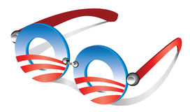 Obama loga oka szkła Obrazy Stock