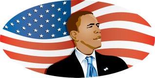 Obama Markierungsfahne Lizenzfreie Stockfotografie