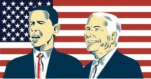 Obama and McCain stock illustration