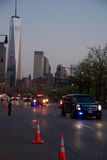 Obama in New york Traffic, at dusk Royalty Free Stock Photography