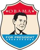 Obama para presidente americano Shield ilustración del vector