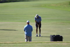 Obama playing golf Hawaii Royalty Free Stock Photos